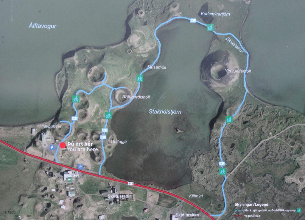 Rutas en Skutustadagigar y Stakhólstjörn (Islandia)